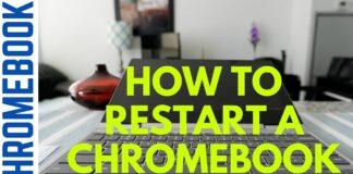 how to restart google chromebook