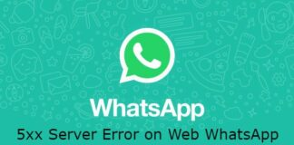 whatsapp-web-5xx-server-error