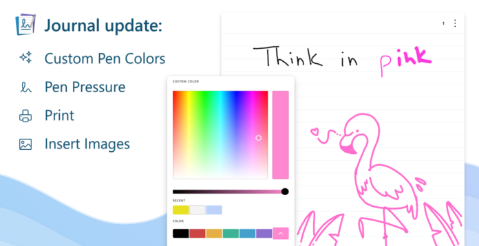 Microsoft's Journal App Adds New Features, Including Custom Pen Colors