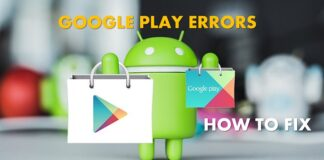 List of Google Play Error and Fixes