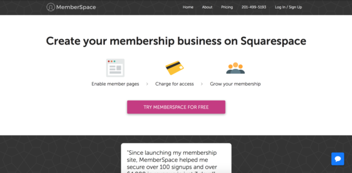 Squarespace Members Area