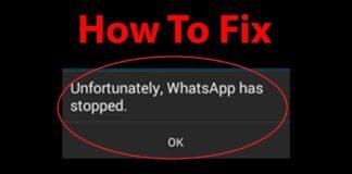 Whatsapp Not Responding Error