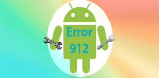 Google play error 912