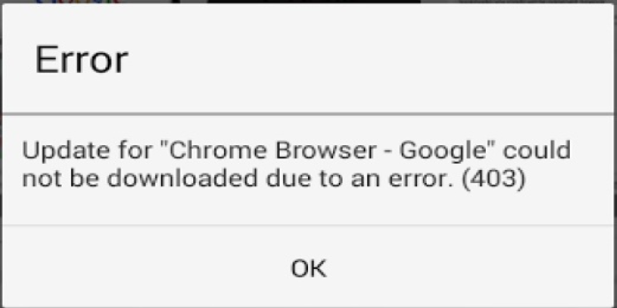 App could not be downloaded due to an error 403
