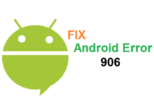 Google Play Error 906