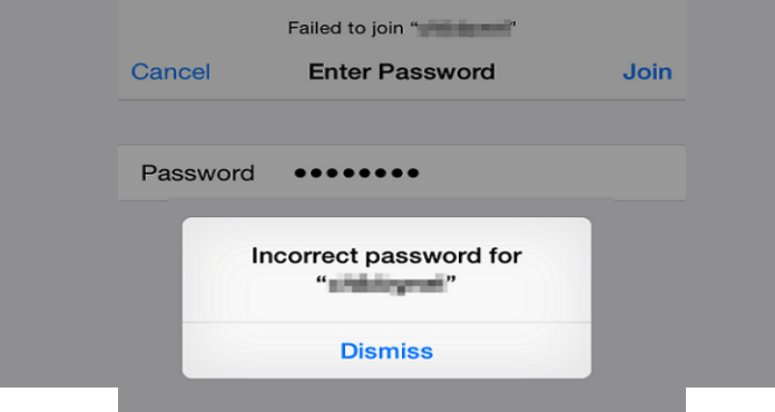 How to fix the iPhone incorrect Wi-Fi password problem