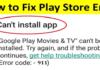 Google Play Error 911