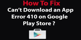 Fix for Error 410: App could not be downloaded due to an error 410