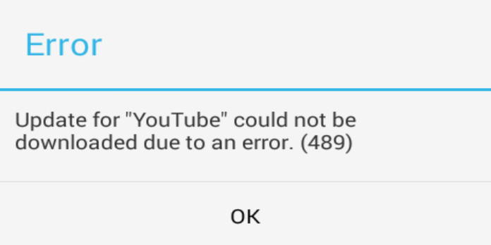 Error 489: App could not be downloaded due to an error. (489)