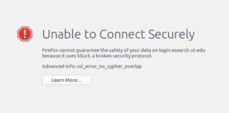 Error Code ssl_error_no_cypher_overlap Firefox 38