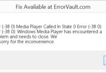 Mediaplayer Error 38 0