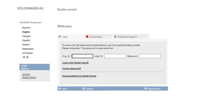 Dealer Portal Vw Login