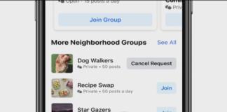 Facebook testing Neighborhood app