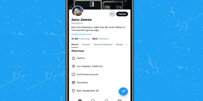 """Twitter to Introduce an """"About"""" feature On the Profile Page of Its Users"""