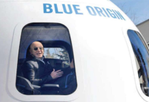 JEFF BEZOS' BLUE ORIGIN TO AUCTION TICKET FOR FIRST SPACE TOURISM FLIGHT