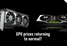 Prices of AMD & Nvidia GPUs gradually returning to normal as supply increases