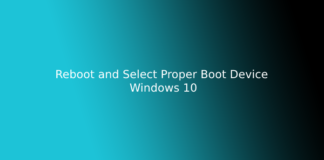 Reboot and Select Proper Boot Device Windows 1