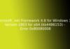 Microsoft .net Framework 4.8 for Windows 10 Version 1803 for x64 (kb4486153) - Error 0x80080008