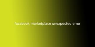 facebook marketplace unexpected error