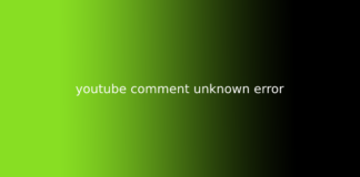 youtube comment unknown error