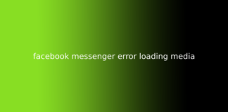 facebook messenger error loading media