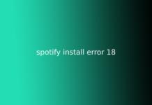 spotify install error 18