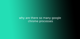 why are there so many google chrome processes