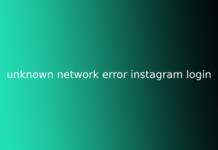 unknown network error instagram login