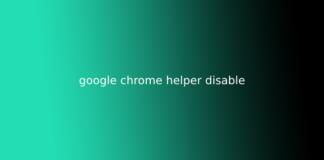 google chrome helper disable
