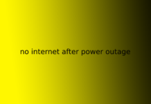 no internet after power outage