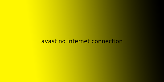 avast no internet connection