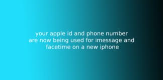 your apple id and phone number are now being used for imessage and facetime on a new iphone