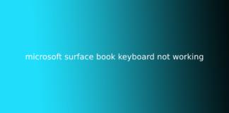 microsoft surface book keyboard not working
