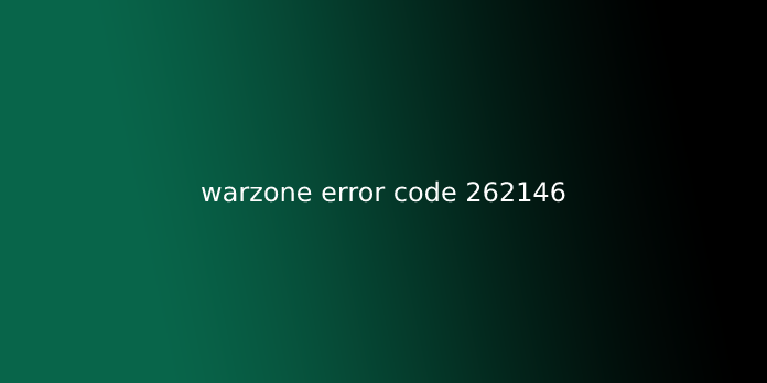 warzone error code 262146
