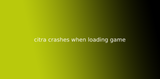 citra crashes when loading game