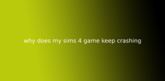 why does my sims 4 game keep crashing