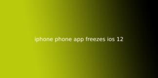 iphone phone app freezes ios 12