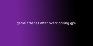 game crashes after overclocking gpu