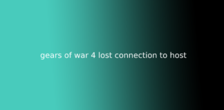 gears of war 4 lost connection to host