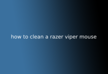 how to clean a razer viper mouse