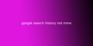 google search history not mine