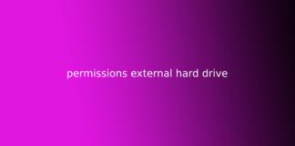 permissions external hard drive