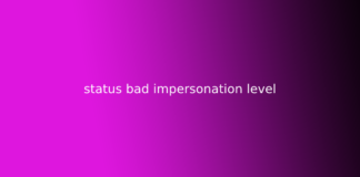 status bad impersonation level