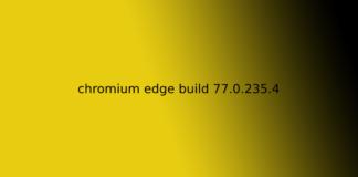 chromium edge build 77.0.235.4