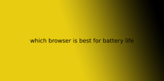 which browser is best for battery life