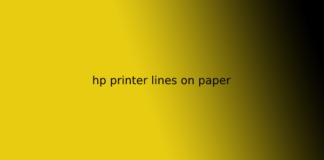 hp printer lines on paper