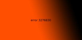 error 3276830