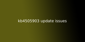 kb4505903 update issues