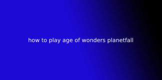how to play age of wonders planetfall