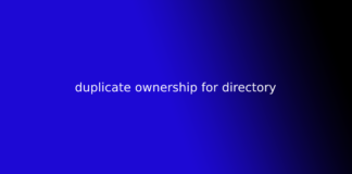 duplicate ownership for directory